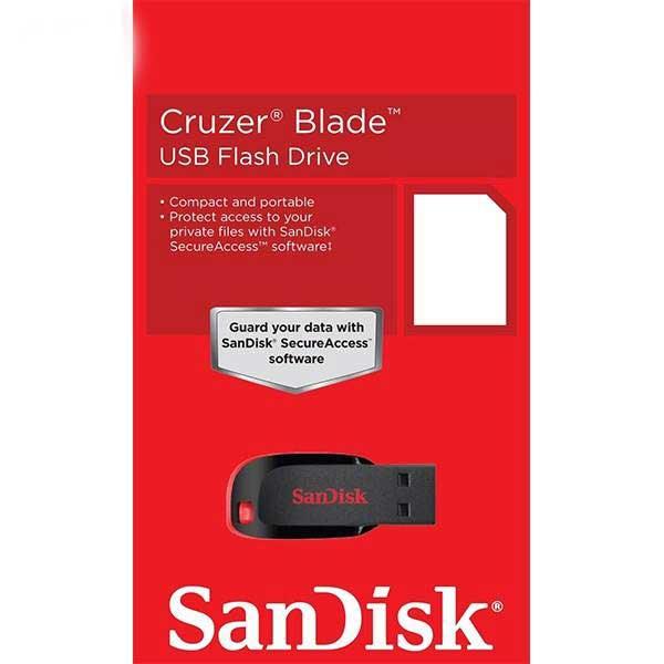فلش مموری سن دیسک مدل Cruzer Blade ظرفیت 8 گیگابایت