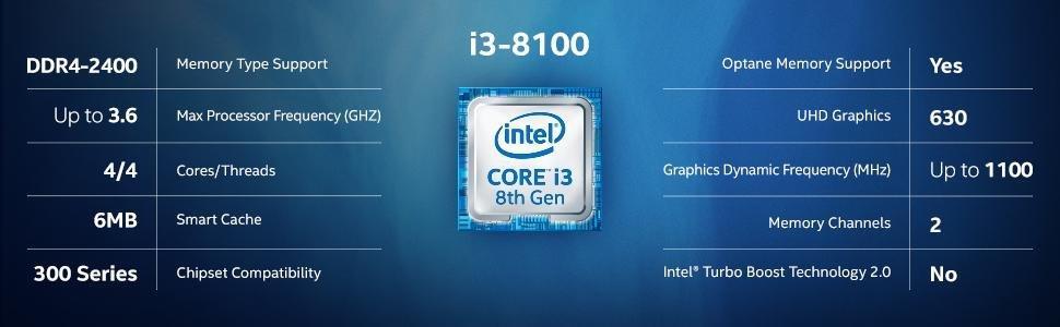 پردازنده مرکزی اینتل سری Coffee Lake مدل i3-8100   فروشگاه ایرنتی زرمارت