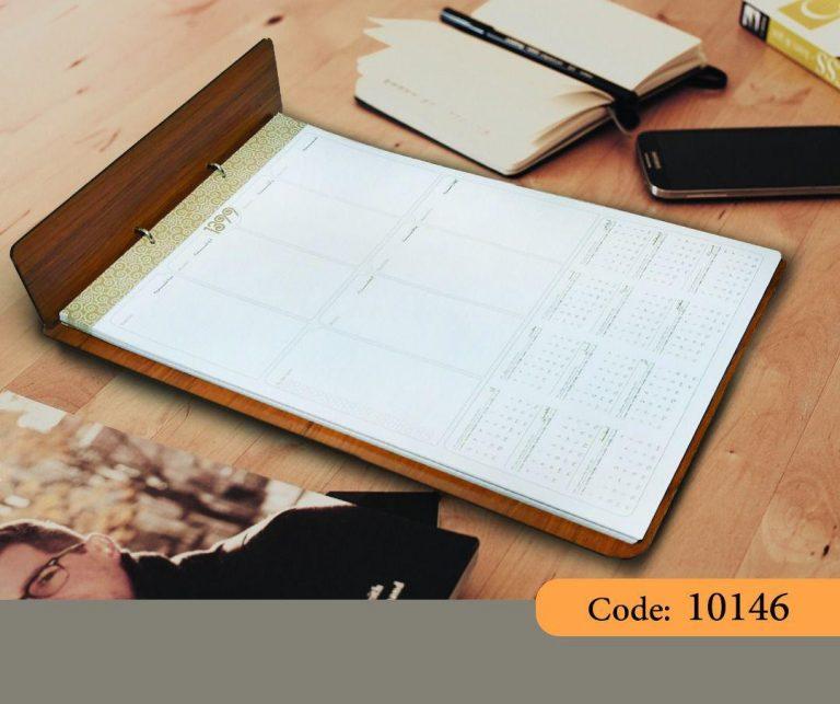 تقویم چوب زیردستی منشی مدل سپیدار کد 10146